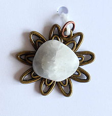 Iné šperky - Kvet mesačný kameň cp157 - 9622544_