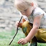 Detské oblečenie - Lněné kapsičkové okrově žluté - 9622685_