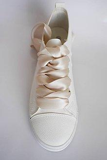 Obuv - Šnúrky do topánok - saténové, š. 2 cm - obojstranný satén (Zlatá - tmavá) - 9622324_