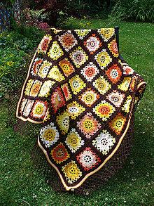 Úžitkový textil - Oranžáda s čokoládou, deka - 9621649_