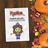 - Halloweenska výzdoba - vtipný zápisník - 9621131_