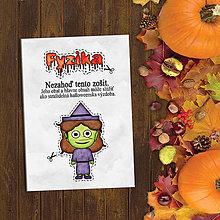 Papiernictvo - Halloweenska výzdoba - vtipný zápisník - 9621131_