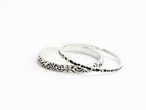 Prstene - sada strieborných prsteňov Uta - 9625064_