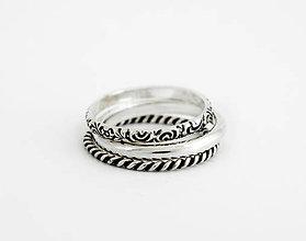 Prstene - 925 sada strieborných prsteňov Persi - 9625079_