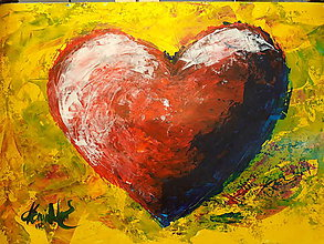 Obrazy - Jedno z lásky - 9624320_