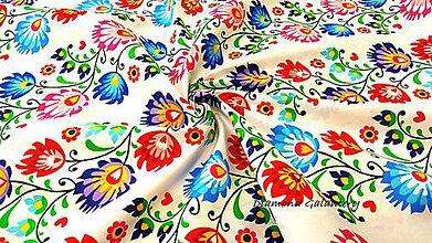 Textil - Bavlnená látka - Folk II - cena za 10 cm - 9624289_