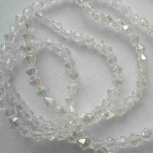 CrystaLine Beads™/bicone 3mm-1ks (clear AB)