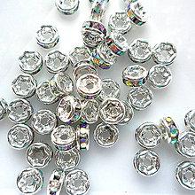 Korálky - Šaton.rondelka-1ks (4mm-strieb/crystal AB) - 9626417_