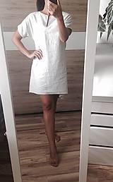 Šaty - Ľanové šaty svetlo sivé - 9623834_