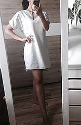 Šaty - Ľanové šaty svetlo sivé - 9623835_