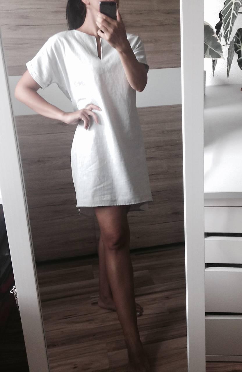 a59a8e84fa38 ... Šaty - Ľanové šaty svetlo sivé - 9623835  ...