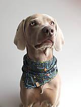 Pre zvieratká - Pac - Obojstranná šatka pre psíkov - 9626648_