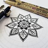 Dekorácie - Osobná mandala na želanie Kruh 25 cm - 9624538_