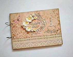 Papiernictvo - Fotoalbum * kniha hostí * album A4 - 9624118_