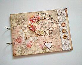 Papiernictvo - Fotoalbum svadobný* kniha hostí * album A4 - 9624181_