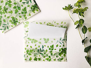 Papier - polopriehľadná papierová obálka Herbár - 9624732_