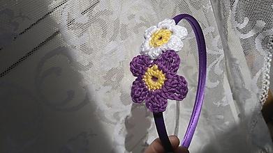 Ozdoby do vlasov - Kvety fialkasté ...čelenka - 9625714_