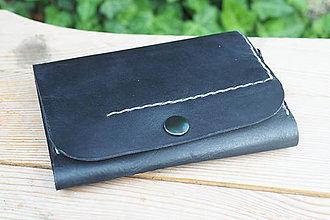 Peňaženky - Kožená peněženka MontMat -černá - 9626470_