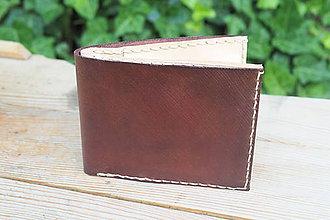 Peňaženky - Kožená peněženka -hnědý kaštan - 9626534_