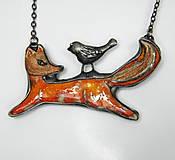 Náhrdelníky - Cínový šperk s keramikou ...Z rozprávky do rozprávky... - 9624339_