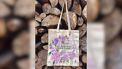 Iné tašky - ♥ Plátená, ručne maľovaná taška ♥ - 9624284_