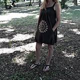 Šaty - Batikované bavlnené šaty Mandala - 9625855_