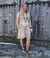 Šaty - Ľanové batikované šaty Mandala - 9625997_