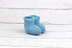 Topánočky - Modré letné papučky EXTRA FINE - 9624129_