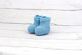 Topánočky - Modré letné papučky EXTRA FINE - 9624130_