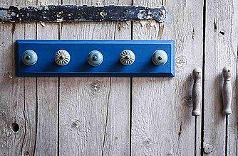 Nábytok - Věšák velký - modrý - 9623245_