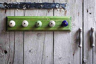 Nábytok - Věšák velký - zelená lazura - 9623273_