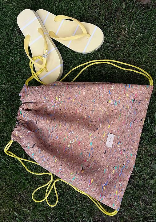 Korkový batoh farebný