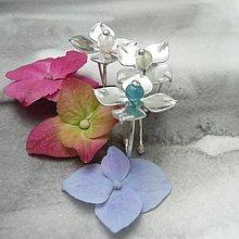 Prstene - Hortenzie - prsteň trikrát inak - 9625489_