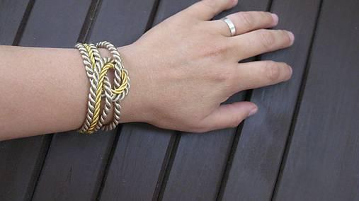 Uzlový náramok (zlato béžový č. 2202)   TARRA - SAShE.sk - Handmade ... 060e193ea7