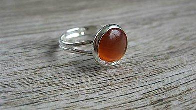 Prstene - Minerál - prsteň (mačacie oko hnedo oranžové, č. 2204) - 9625882_