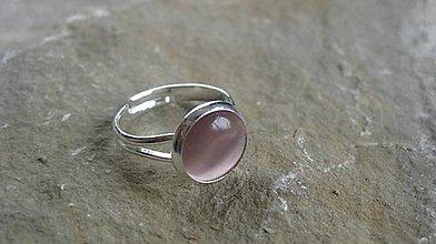Prstene - Minerál - prsteň (mačacie oko ružové č. 2205) - 9625929_