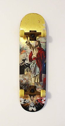 Obrazy - Rímskokatolícky skateboard - 9626624_