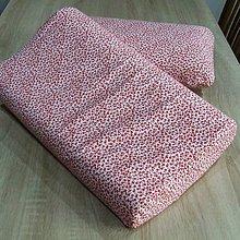 Úžitkový textil - Červené kvietky na bielej - obliečka na anatomický vankúš - 9625798_