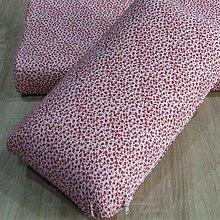 Úžitkový textil - Červené kvietky na bielej - obliečka na vankúš z pamäťovej peny - 9625878_