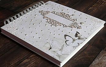 Papiernictvo - Album,kniha hostí,album k promócii,fotoalbum,kniha prianí-Elegancia - 9626677_