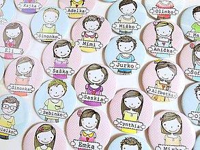 Odznaky/Brošne - Personalizované odznaky/menovky pre deti - 9623519_