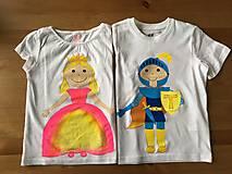 Detské oblečenie - Súrodenecké duo tričiek pre sestričku princeznú a jej brata princa - 9624396_