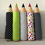 Úžitkový textil - Ceruzky BODKOVANÉ - skladom na poslednú chvíľu - 9625304_