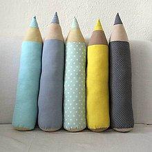 Úžitkový textil - Ceruzky JEMNÉ - skladom na poslednú chvíľu - 9625298_