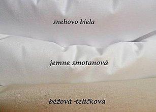 Textil - biela,smotanová ,telíčková (Biela) - 9624070_