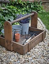 Nábytok - Prenosná drevená debnička - 9623552_