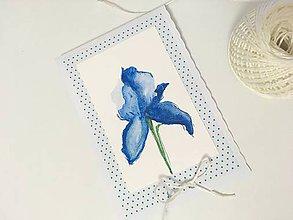 Papiernictvo - Blue flower - 9629792_