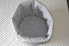 Úžitkový textil - Košíček do kúpeľne - 9627366_