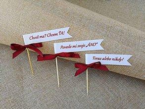 Darčeky pre svadobčanov - Zápichy do zákuskov - 9627232_
