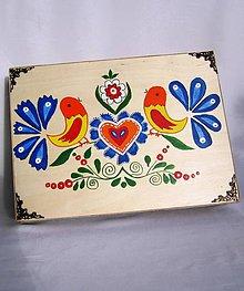 Krabičky - Drevená kazeta na doklady A4-folk - 9629742_